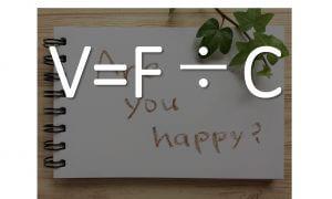 V=F/C