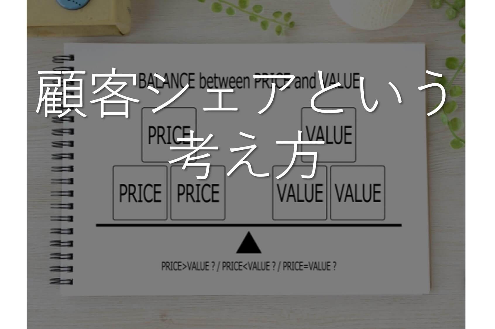 顧客シェアとパラダイムシフト